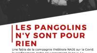 «Les pangolins n'y sont pour rien» est une fable de la compagnie théâtrale NAJE sur la Covid, le confinement, notre gouvernement et nous. Elle a été jouée pour la première […]